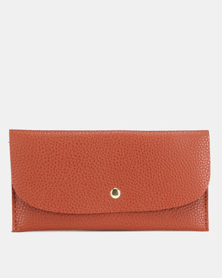 Utopia Foldover Purse Tan