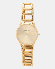 Utopia Link Watch Gold-Toned