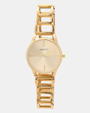 Utopia Link Watch Gold-Toned