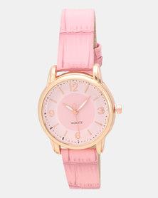 Utopia Croco Watch Pink