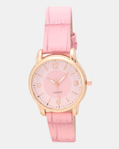 Utopia Croco Watch Pink