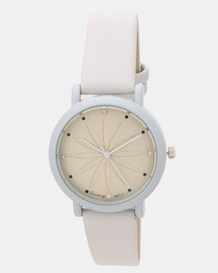 Utopia Flower Watch Grey