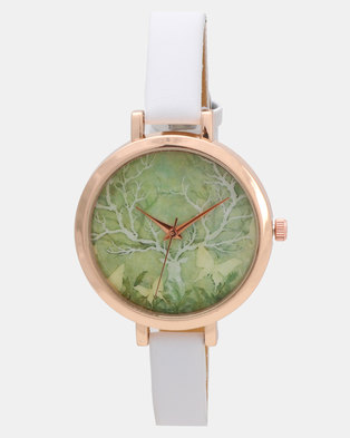 Utopia Deer Watch White
