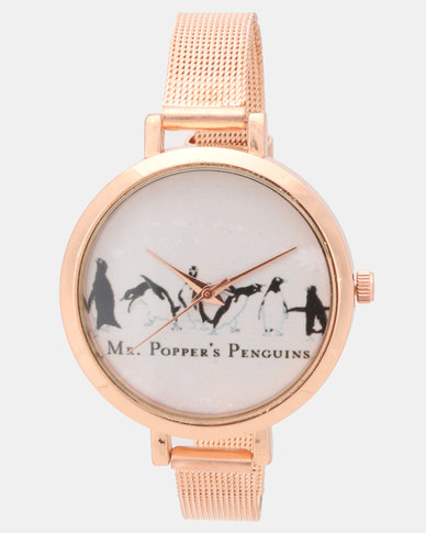 Utopia Metal Watch Rose Gold-tone