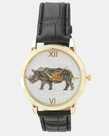 Utopia Rhino Watch Black