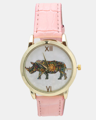 Utopia Rhino Watch Light Pink