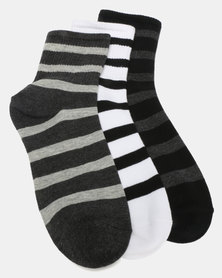 Utopia Stripe 3 Pack Socks Multi