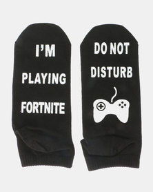 Utopia Fortnite Socks Black