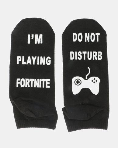 Utopia Fortnite Socks Black