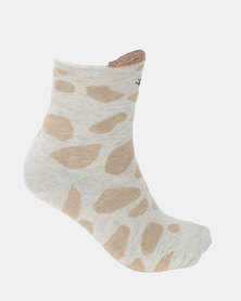 Utopia Giraffe Socks Brown