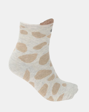 Utopia Giraffe Socks Brown