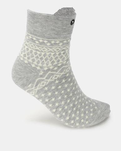 Utopia Teddy Bear Socks Grey