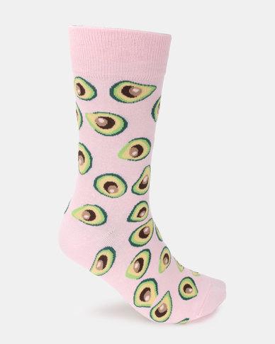 Utopia Avocado Socks Pink
