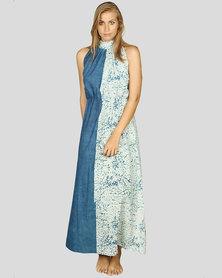 Basic Journey Marble Dyed Dress Blue