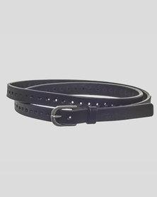 Basic Journey Leather Belt Black