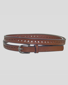 Basic Journey Genuine Leather Belt Brown