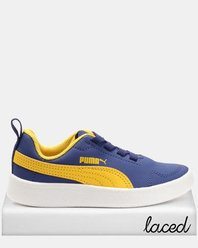 Puma Sportstyle Core Boys Courtflex PS Sneakers Blue