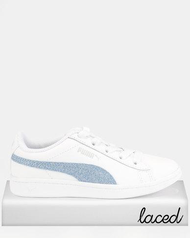 787bb6f8d Puma Girls Vikky Glitz AC PS Sneakers White | Zando
