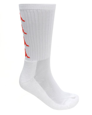 Kappa Authentic Amal 1P Socks White/Red/Orange