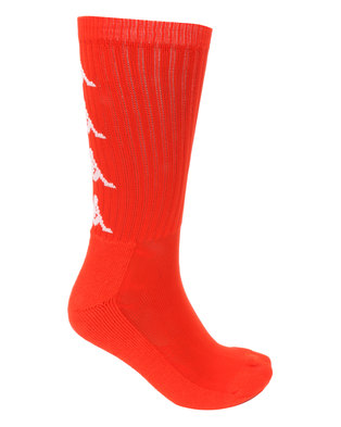 Kappa Authentic Amal 1P Socks Red/Orange/White