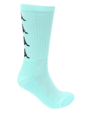 Kappa Authentic Amal 1P Socks Azure Turquoise/Black