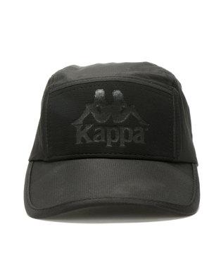 Kappa Julian Emboss Peak Cap Black