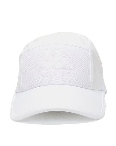Kappa Julian Emboss Peak Cap White