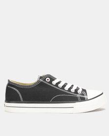 Lee Cooper MF Kano Mens Low Cut Canvas Shoes Black
