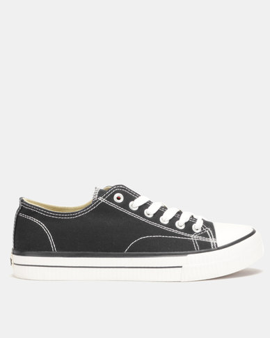 Lee Cooper MF Kano Mens Low Cut Canvas Shoes Black