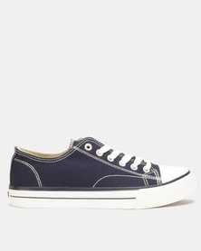 Lee Cooper MF Kano Mens Low Cut Canvas Shoes Navy