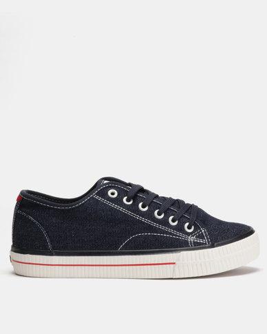 Lee Cooper MF Cash Mens Low Cut Canvas Shoes Navy