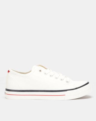 d43987e92 Lee Cooper MF Cash Mens Low Cut Canvas Shoes White | Zando
