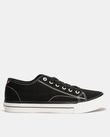 Lee Cooper MF Cash Mens Low Cut Canvas Shoes Black