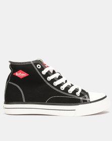 Lee Cooper MF Pheonix Mens Mid Cut Canvas Shoes Black