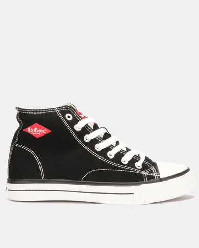 c7db2e3be Lee Cooper MF Pheonix Mens Mid Cut Canvas Shoes Black | Zando