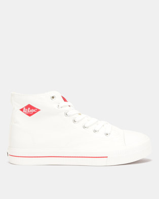 the best attitude 8e439 ed59f Lee Cooper MF Pheonix Mens Mid Cut Canvas Shoes White