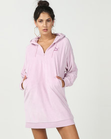 Puma Sportstyle Prime Downtown Hooded Dress Winsome Orchid