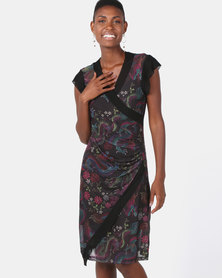 Cheryl Arthur Wrap Dress Jade Dragon