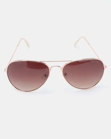 Bad Girl Sell Out Sunglasses Rose Gold-tone