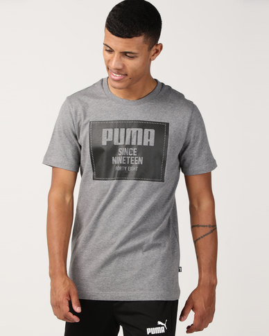 Puma Sportstyle Core Rebel Block Tee Grey