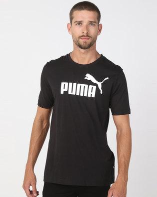 Puma Sportstyle Core Ess Logo Tee Black eaeaae182763