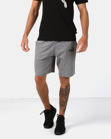 Puma Sportstyle Core Essential Jersey Shorts Grey