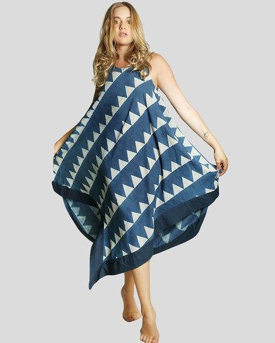 Basic Journey T-point Dress Blue Triangle