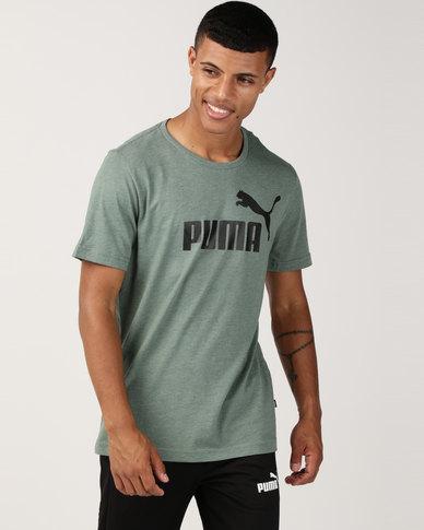check out ef5ac 0b28c Puma Sportstyle Core Ess Heather Tee Green   Zando