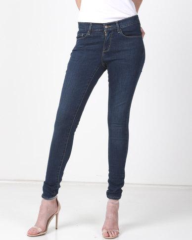 Levi's ® Curvy Skinny Jeans Deep Blue Cosmos