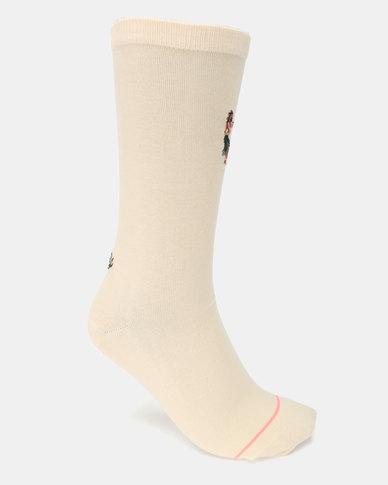 Stance Leiday Socks Cream
