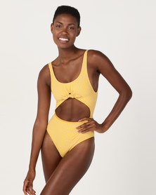 Billabong Surf Check One Piece Yellow