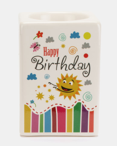 Splosh Happy Birthday Candleholder Multi