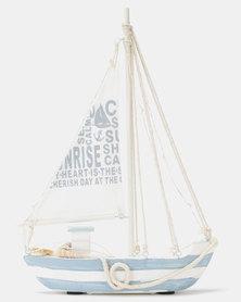 Splosh Light Up Sail Boat Lamp Blue