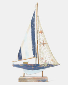 Splosh Light Up Sail Boat Lamp Blue
